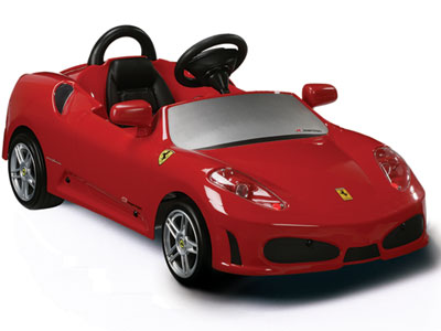 red ferrari pedal ride on car for kids